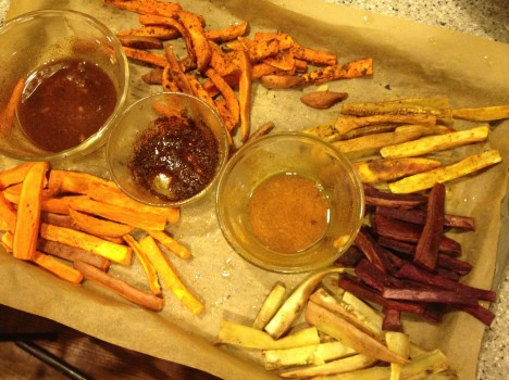 Spicing Up Roasted Sweet Potatoes Sticks